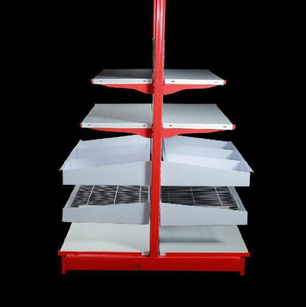 قفسه فروشگاهی دوطرفه پایه خودایستا 1.5 متری و2 متری