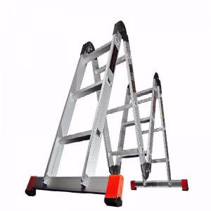 نردبان تاشو (قفلی) الوم پارس پله در سازیهای مختلف مدل هارمونی