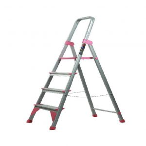 نردبان خانگی وفروشگاهی الوم پارس پله 3 تا 7پله مدل اطلس