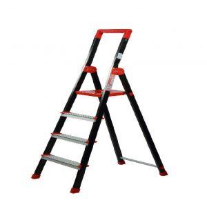نردبان خانگی وفروشگاهی الوم پارس پله 3 تا 7پله مدل الماس