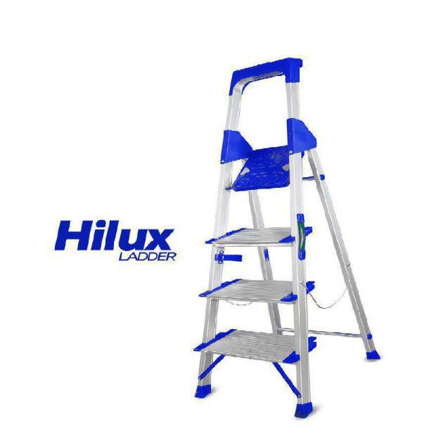 نردبان خانگی و فروشگاهی الوم پارس پله 3 تا 8 پله مدل هایلوکس